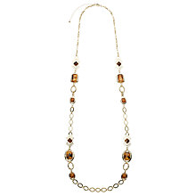 Buy John Lewis Aztec Long Necklace, Tortoise Online at johnlewis.com