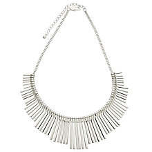 Buy John Lewis Matte Fan Silver Necklace, Silver Online at johnlewis.com