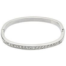Buy John Lewis Multi Diamante Silver Bangle, Silver Online at johnlewis.com