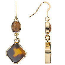 Buy John Lewis Drop Earrings, Tortoise Online at johnlewis.com