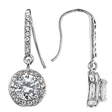 Buy John Lewis Round Stone Drop Earrings, Silver Online at johnlewis.com