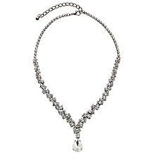 Buy John Lewis Cubic Zirconia Pear Drop Necklace, Silver Online at johnlewis.com