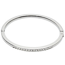 Buy John Lewis Pave Round Silver Bangle, Silver Online at johnlewis.com