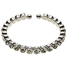Buy John Lewis Single Row Diamante Cuff Bangle, Silver Online at johnlewis.com