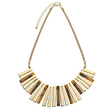 Buy John Lewis Fan Necklace, Tortoise Online at johnlewis.com