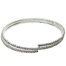 Buy John Lewis Skinny Double Row Diamante Bracelet, Silver Online at johnlewis.com