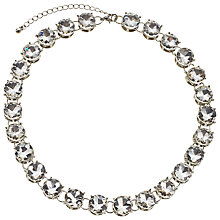 Buy John Lewis Large Stone Necklace, Silver Online at johnlewis.com