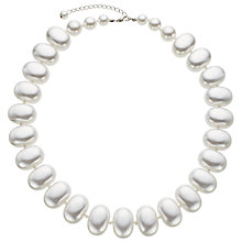 Buy John Lewis Faux Pearl Potato Bead Necklace, White Online at johnlewis.com