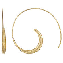 Buy Cobra & Bellamy 18ct Gold Silver Vermeil Hoop Earrings, Gold Online at johnlewis.com