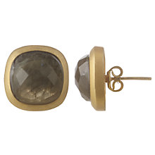Buy Cobra & Bellamy18ct Gold Vermeil Labradorite Stud Earrings, Grey Online at johnlewis.com
