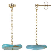 Buy Cobra & Bellamy 18ct Gold Turquoise Drop Earrings, Blue Online at johnlewis.com