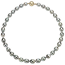 Buy Cobra & Bellamy 14ct Gold Tahitian Pearl Necklace, Grey Online at johnlewis.com