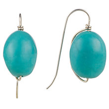 Buy Cobra & Bellamy Silver Turquoise Drop Earrings, Silver Online at johnlewis.com