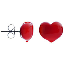 Buy Martick Murano Heart Stud Earrings Online at johnlewis.com