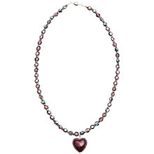 Buy Martick Sparkle Heart and Crystal Necklace Online at johnlewis.com