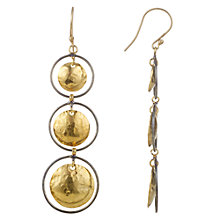 Buy Cobra & Bellamy Silver Vermeil 3 Circles Drop Earrings, Gold Online at johnlewis.com