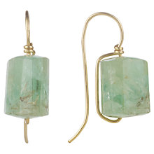 Buy Cobra & Bellamy 18ct Gold Emerald Chunk Drop Earrings, Green Online at johnlewis.com