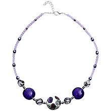Buy Martick Silver Plated Murano Glass Spot Ametrine Bon Bon Necklace, Blue Online at johnlewis.com