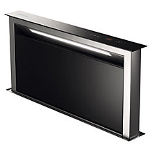 Buy Smeg KDD90VXE Downdraft Cooker Hood, Stainless Steel and Black Glass Online at johnlewis.com