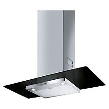 Buy Smeg KFV92DNE 90cm Chimney Cooker Hood, Stainless Steel and Black Glass Online at johnlewis.com