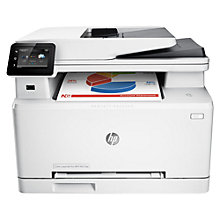 Buy HP LaserJet Pro M277dw Wireless Colour All-in-One Laser Printer & Fax Machine, White Online at johnlewis.com