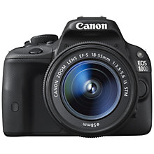 "Buy Canon EOS 100D Digital SLR Camera with EF-S 18-55mm & EF 75-300mm Zoom Lens, HD 1080p, 18MP, 3"" LCD Touch Screen Online at johnlewis.com"