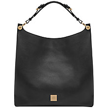 Buy Mulberry Freya Leather Hobo Bag, Black Online at johnlewis.com