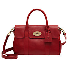 Buy Mulberry Bayswater Small Leather Satchel Bag, Poppy Online at johnlewis.com