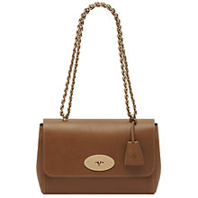 Buy Mulberry Lily Leather Medium Shoulder Bag, Soft Gold Online at johnlewis.com