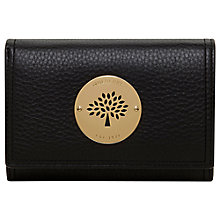 Buy Mulberry Daria French Grain Small Flap Purse, Black Online at johnlewis.com
