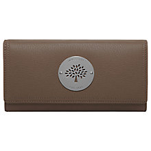 Buy Mulberry Daria Continental Large Flap Purse, Walnut Brown Online at johnlewis.com