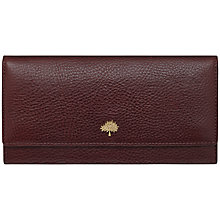 Buy Mulberry Tree Continental Leather Wallet, Oxblood Online at johnlewis.com