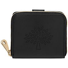 Buy Mulberry Blossom Small Leather Zip Around Purse, Black Online at johnlewis.com
