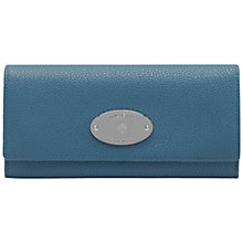 Buy Mulberry Continental Large Leather Flapover Wallet, Steel Blue Online at johnlewis.com
