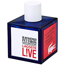 Buy Lacoste L!ve Collector's Edition Eau de Toilette, 100ml Online at johnlewis.com