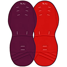 Buy Silver Cross Surf, Wayfarer and Pioneer Reversible Seat Liner, Aubergine/Chilli Online at johnlewis.com