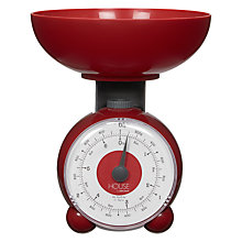 Buy House by John Lewis Orb Mechanical Kitchen Scale, Red Online at johnlewis.com