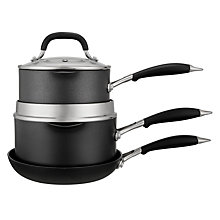 "Buy John Lewis ""The Pan"" 3-Piece Pan Set Online at johnlewis.com"