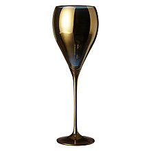Buy John Lewis Hand Decorated Boutique Hotel Wine Glass, Gold Online at johnlewis.com