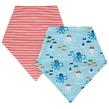 Buy John Lewis Pirate Dribble Bibs, Pack of 2 Online at johnlewis.com