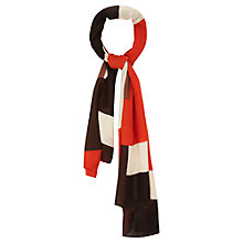 Buy Viyella Colour Block Scarf, Paprika Online at johnlewis.com