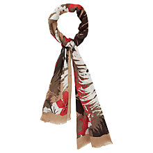 Buy Viyella Palm Print Scarf, Cranberry Online at johnlewis.com