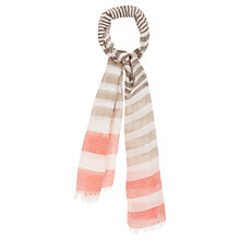 Buy Viyella Woven Stripe Scarf, Orange Online at johnlewis.com