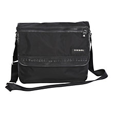 Buy Diesel New Voyage Crossbody Messenger Bag, Black Online at johnlewis.com