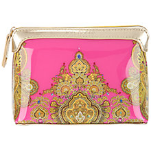 Buy Ted Baker Small Paisley Wash Bag, Bright Pink Online at johnlewis.com