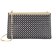 Buy Ted Baker Kala Punch Leather Clutch Bag Online at johnlewis.com