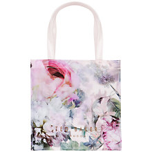 Buy Ted Baker Leafkon Peony Print Small Icon Shopper Bag, Shell Online at johnlewis.com