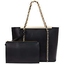Buy Ted Baker Bluebel Chain Detail Leather Shopper Bag Online at johnlewis.com