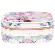 Buy Ted Baker Peony Print Jewellery Case, Dusky Pink Online at johnlewis.com