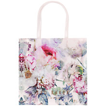 Buy Ted Baker Florkon Peony Print Large Icon Shopper Bag, Shell Online at johnlewis.com